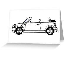 Mini, Cooper, Convertible, BMW, Motor, Car, Soft Top Greeting Card