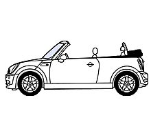 Mini, Cooper, Convertible, BMW, Motor, Car, Soft Top Photographic Print