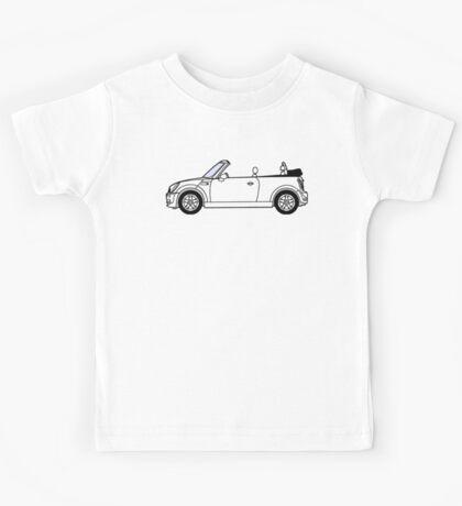 Mini, Cooper, Convertible, BMW, Motor, Car, Soft Top Kids Tee