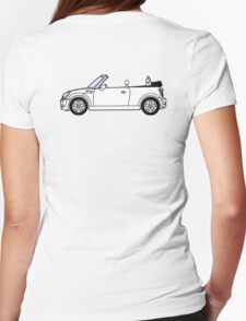 Mini, Cooper, Convertible, BMW, Motor, Car, Soft Top Womens Fitted T-Shirt