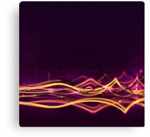 Abstract Background with Light Waves Canvas Print
