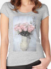 Love Silently - Flower Art Women's Fitted Scoop T-Shirt