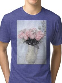 Love Silently - Flower Art Tri-blend T-Shirt