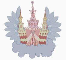 Cartoon fairy castle on a cloud  Kids Tee