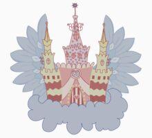 Cartoon fairy castle on a cloud  One Piece - Long Sleeve