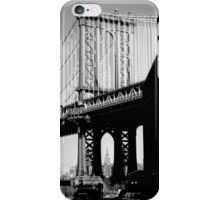 Empire State Building through Manhattan Bridge iPhone Case/Skin