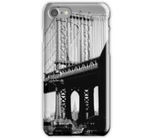 Empire State Building through Manhattan Bridge iPhone Case/Skin