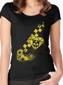 Black Leather Yellow Leather: No. 3 Women's Fitted Scoop T-Shirt