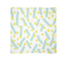 Blue Strokes & Dots - Brightly Spring Scarf