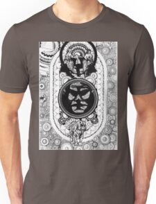 suits and a face in a losenge above a tiger Unisex T-Shirt