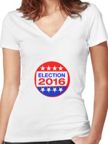 ELECTION 2016 Women's Fitted V-Neck T-Shirt