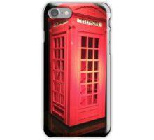 Lego telephone box  iPhone Case/Skin