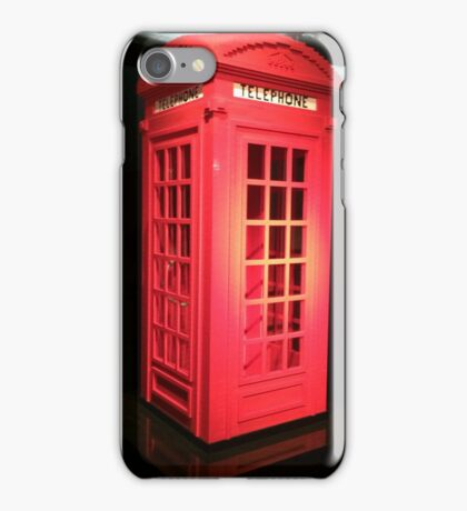 Lego telephone box  iPhone Case/Skin