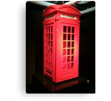 Lego telephone box  Canvas Print