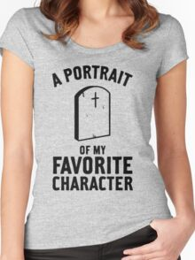 Portrait of my favorite charafcter Women's Fitted Scoop T-Shirt