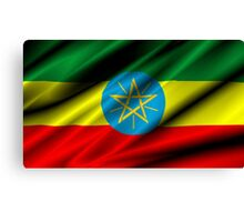 flag of ethiopia Canvas Print