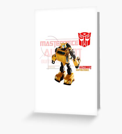 Transformers G1 Bumblebee Greeting Card