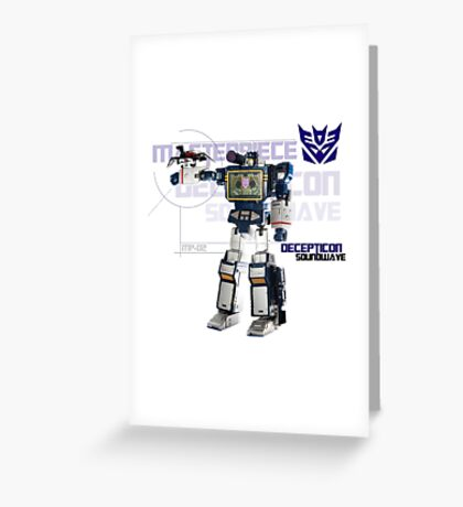 Transformers G1 Soundwave Greeting Card