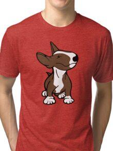 English Bull Terrier Pup Brown  Tri-blend T-Shirt