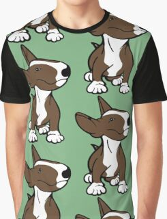 English Bull Terrier Pup Brown  Graphic T-Shirt