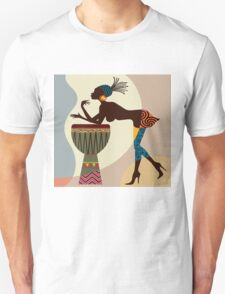 African woman with bongos T-Shirt