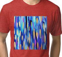 The Blues - Abstract art Tri-blend T-Shirt
