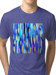 The Blues - Abstract art Tri-blend T-Shirt