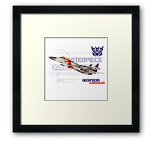 Transformers G1 Starscream Jet Framed Print
