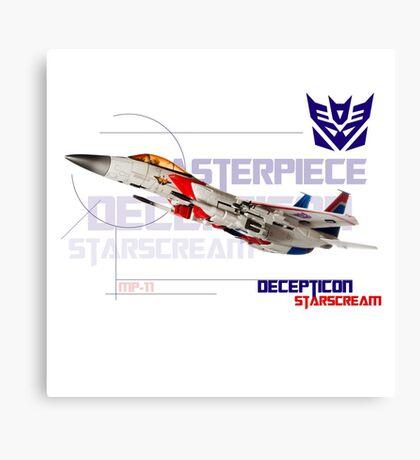 Transformers G1 Starscream Jet Canvas Print
