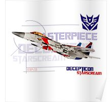 Transformers G1 Starscream Jet Poster