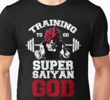 training to super saiyan god Unisex T-Shirt