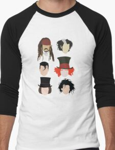 Johnny Depp - Famous Characters Men's Baseball ¾ T-Shirt