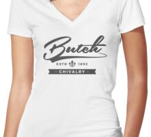 Lesbian Pride - Butch Chivalry Women's Fitted V-Neck T-Shirt