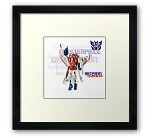 Transformers G1 Starscream Framed Print