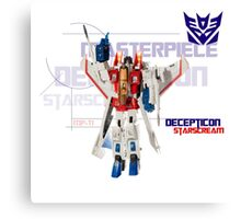 Transformers G1 Starscream Canvas Print