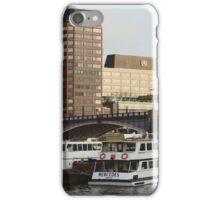 Boats At Lambeth Bridge iPhone Case/Skin