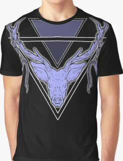Triangle Deer Graphic T-Shirt