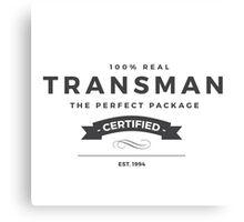 FTM: Transman Pride Canvas Print