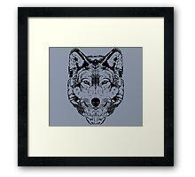 Wolf Black 2 Framed Print
