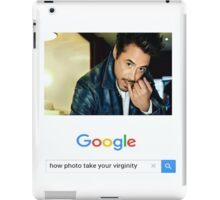 Robert Downey Jr. fangirl edit iPad Case/Skin