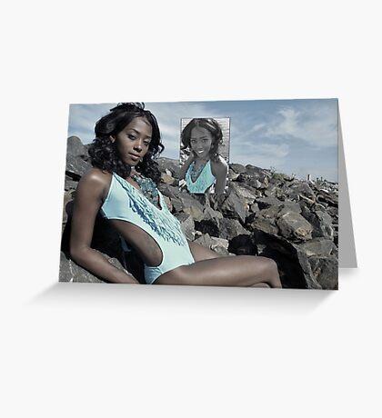 Beautiful Bikini Model Greeting Card