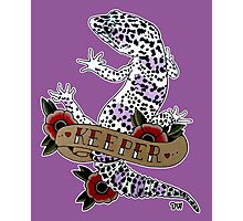 """Keeper Leopard Gecko"" Photographic Print"