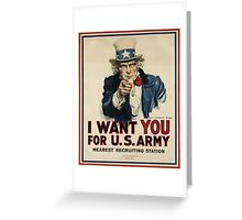 Join the USA army Greeting Card