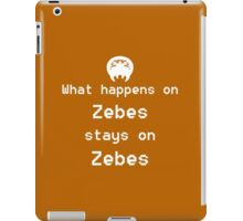 What happens on Zebes... iPad Case/Skin