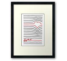 Fangirl Heart Framed Print