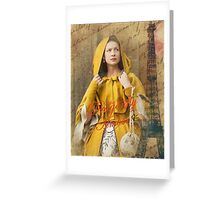 Outlander/Claire/Dragonfly in Amber Greeting Card