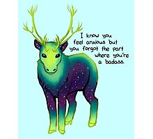 """The Part Where You're a Badass"" Galaxy Caribou Photographic Print"