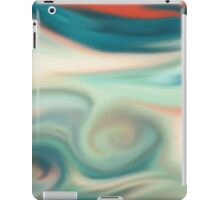 Digital painted texture retro pastel background. Abstract beautiful illustration, color, silk, liquid print. iPad Case/Skin