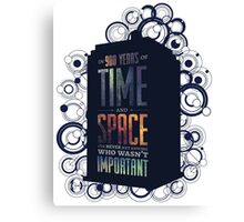 Doctor Who - Space and Time Canvas Print