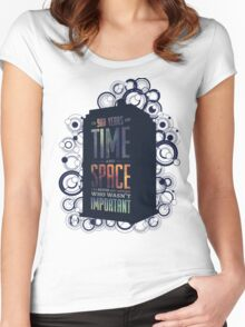 Doctor Who - Space and Time Women's Fitted Scoop T-Shirt